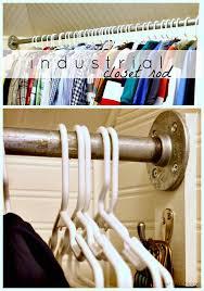 diy industrial galvanized closet rod