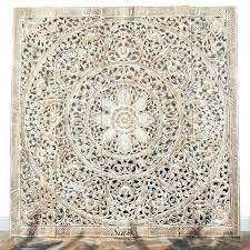 ed carved whitewash round wall decor white pier 1