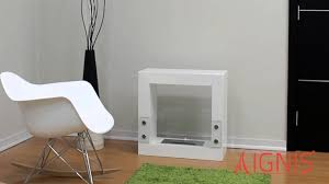 tectum mini white ventless ethanol fireplace by ignis