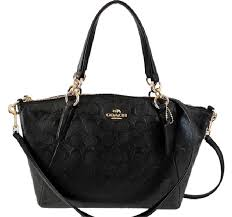 Coach Metallic Hobo Purse Handbag Kelesy Madison 34493m F34493 36675 F36675  Kelsey Satchel in Black Embossed ...