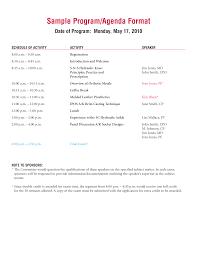 Simple Agenda Format Templates At Allbusinesstemplates Com