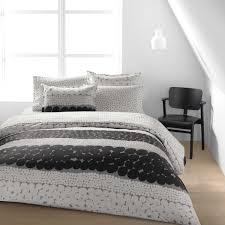 marimekko jurmo grey white percale bedding marimekko bed bath