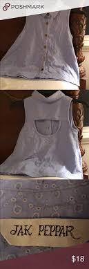 Jak Peppar Top Jak Peppar Size 12 100 Cotton Spa Blue