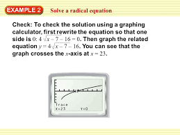 example 2 solve a radical equation