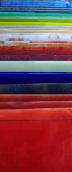 sheets of coloured glass