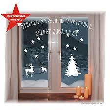 Wiederverwendbares Winterliches Fensterbild Weiß