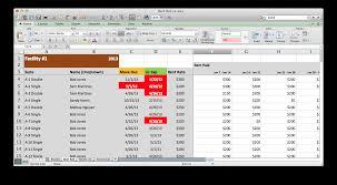 excel models s archive rent roll screenshot in excel