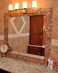 bathroom mirror frame tile.  Tile Image Of Frame Around Bathroom Mirror Throughout Tile