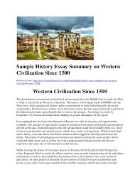 sample history essay summary on western civilization since jpg cb  sample history essay summary on western civilization since 1500 retrieved from
