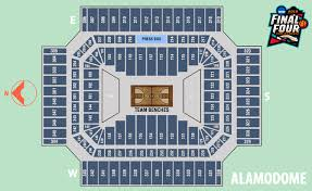 Alamodome Ncaa Basketball Seating Chart Alamodome Seating Chart Final Four Elcho Table