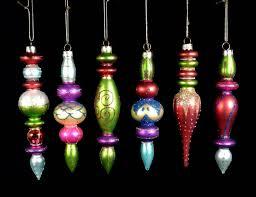 6 Christbaumschmuck Kugeln Zapfen Ornament Baumschmuck Glas