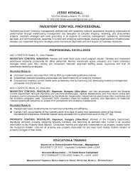 Free Resume Template Inventory Control Specialist Resume Samples