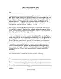 Fillable Online Marketing Release Form - Weo1Com Fax Email Print ...