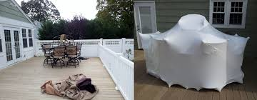 outdoor furniture shrink wrapping