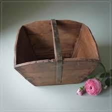 vintage style trug category vintage baskets old wooden