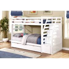 bunk bed with trundle and desk stockcom drawers all in one loft chest closet dresser