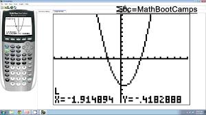 X And Y Intercepts On The Calculator Ti83 Ti84