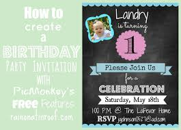 Design Your Own Birthday Party Invitations How To Create An Invitation In Picmonkey