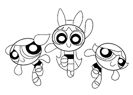 Powerpuff Girls Coloring Pages For Kids