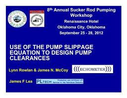 Pump Slippage Calculator Alrdc