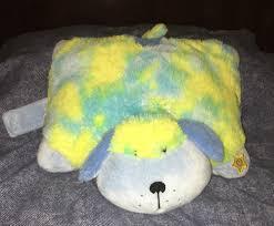 Large Soft Plush Glow Pillow Pet Dog Lights Up Blue Yellow