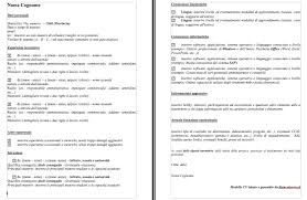 Curriculum Formato Curriculum Vitae Modello Major Magdalene Project Org