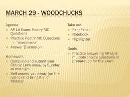 woodchucks agenda ap lit exam poetry mc questions 29 woodchucks agenda ap lit exam poetry mc questions