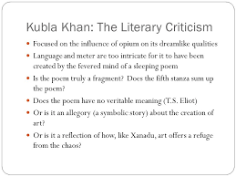 r ticism concepts and beliefs ppt 19 kubla khan