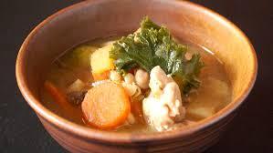 miso soup with en and vegetable kenchinjiru