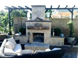 outdoor fireplace ideas s with brick