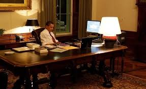 president oval office. he also sometimes receives his daily intelligence briefing on an ipad in the oval office president