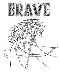 Small Picture Princess Merida Prepare with Her Arrow and Bow Coloring Pages