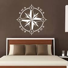 compass wall decal nautical decor compass rose wall decor navigate vinyl stickers decals
