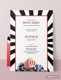 Free Movie Night Invitation Template Download 518 Invitations In