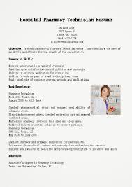 Gallery Of Resume Samples Hospital Pharmacy Technician Resume Sample