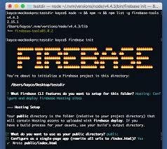 Firebase CLI: