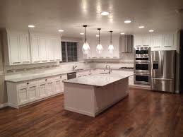 White Kitchen Dark Wood Floors White Cabinets Hardwood Floors Home Ideas I 3 Pinterest