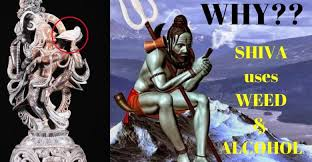 why does lord shiva smoke weed and