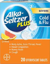 Tylenol Cold And Flu Severe Dosage Chart Effervescent Tablet Medicine For Cold Flu Alka Seltzer Plus