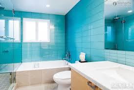 Blue Tiles Bathroom Minimalist Decor Homes Alternative 51480