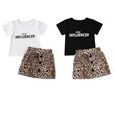 <b>Summer Toddler Kids</b> Baby Girl Clothes Sets <b>1 6Y</b> Letter Print Tops ...