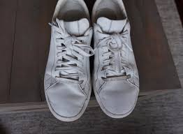 here s another look at how the sneakers looked before cleaning the laces are quite dirty especially at the tip i have some dirt near the tip of the toe