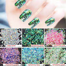 1 pack fish scale nail sequins phototherapy nail glitter decorations manicure tool dazzle glitter nail polish designs nail stickers from roseeyy