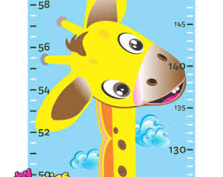 Cars Growth Height Chart Wall Sticker Removable By Etsy
