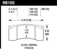 Hawk Pads Chart Hawk Alcon B Mb4 Brembo Xa2 E5 01 04 Xa5 90 01 04 Xa6