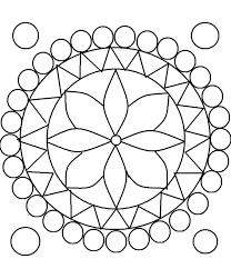 Small Picture Design Coloring Pages for Teens Rangoli design coloring
