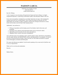 5 Medical Receptionist Cover Letter Sample New Hope Stream Wood