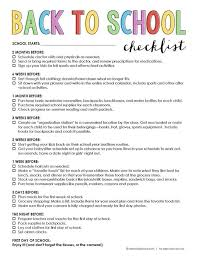 Checklist For School Free Printable Back To School Checklist Pinterest Best School