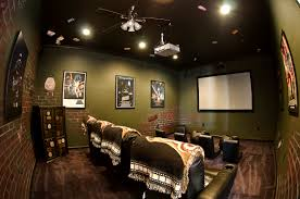 movie room lighting. Theater Room Lighting. Luxurious Home Movie Rooms : Lovely With Soft Green Brick Lighting