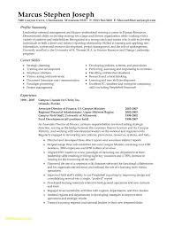 Human Resources Resume Summary Fresh Professional Resume Templates